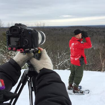 Taking A Photo In The Snow On A Mountain