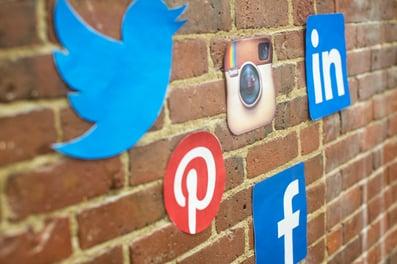 Social Media Icons On A Wall