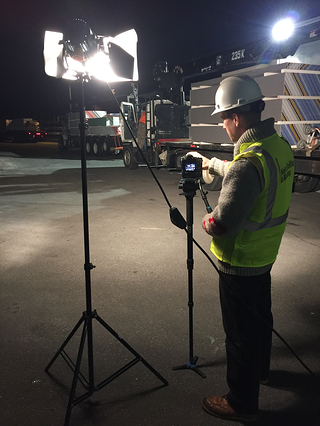 Filming A Construction Site