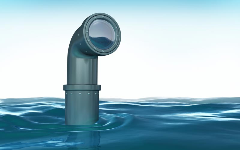 Periscope above water
